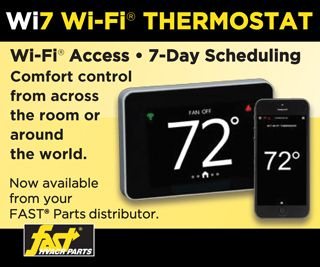 The new Wi7 Wi-Fi<sup>�</sup> thermostat: Wi-Fi<sup>�</sup> access, with 7-day comfort scheduling.