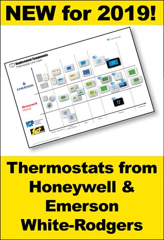 An extensive new line of thermostats from Honeywell & Emerson White-Rodgers.